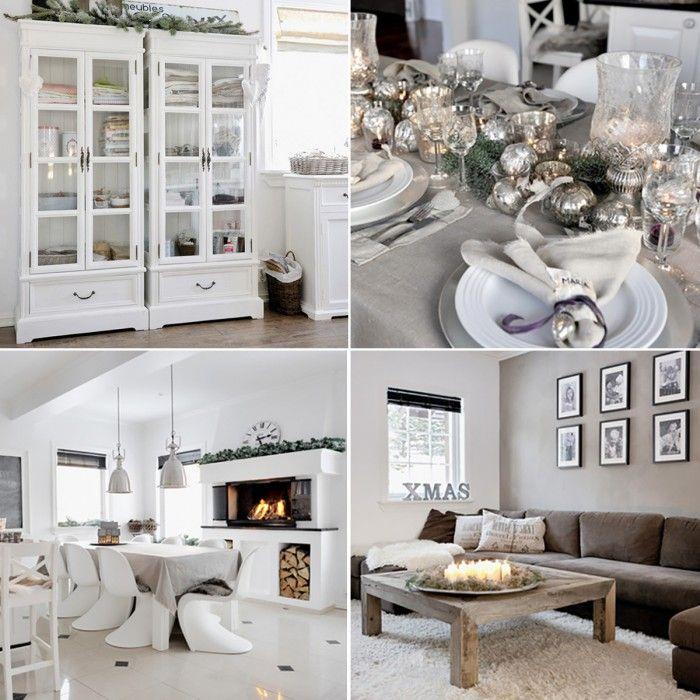 Winterse gezelligheid in dit Noorse huis vol subtiele kerstversiering  Mooi rustig kleurenpalet