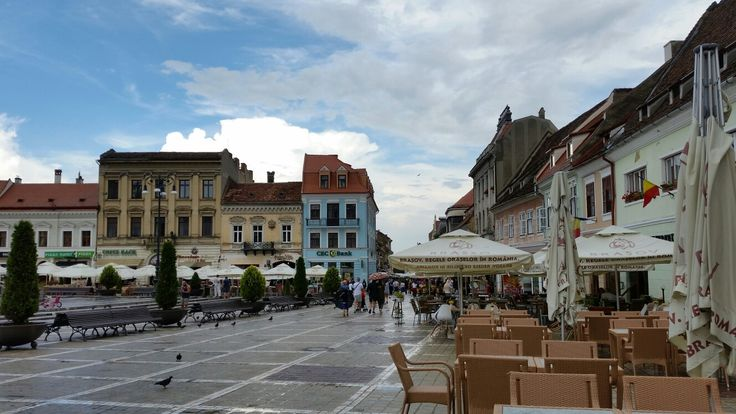 Coffe shops and restaurants in Brasov Council Square (Piata Sfatului)  #trivo