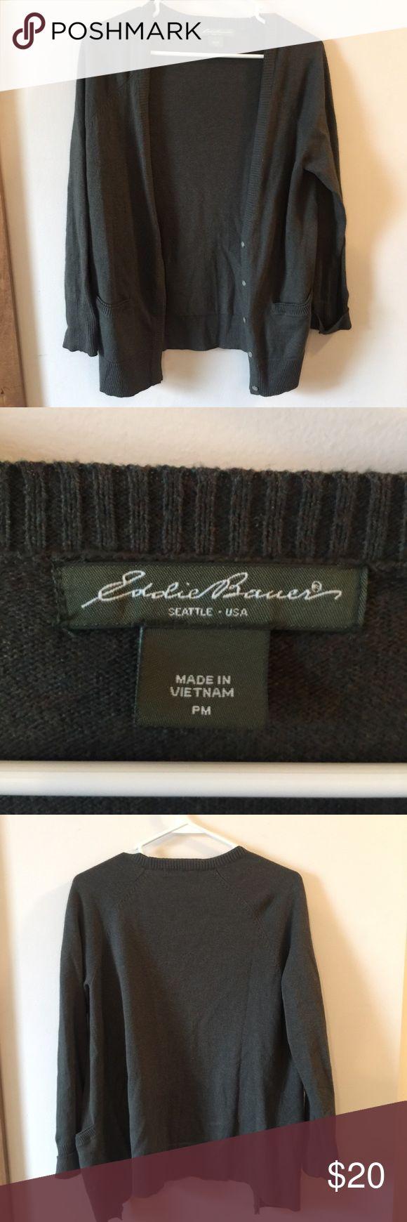 Eddie Bauer Olive Green Cardigan. SIZE MEDIUM Eddie Bauer Olive Green Cardigan. SIZE MEDIUM. Perfect condition. Eddie Bauer Sweaters Cardigans