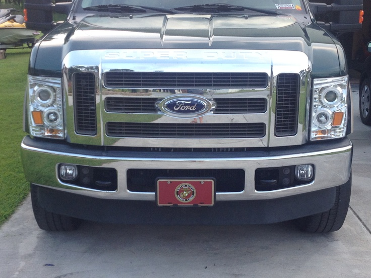 2008 F250 6.4L 4x4 with new headlights
