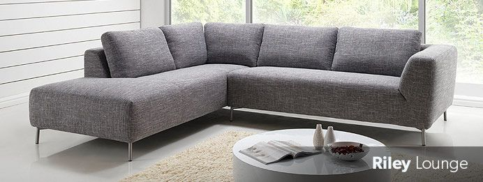 Riley Corner Modular Lounge From Nick Scali   This Textured Grey Fabric Is  Light And Neutral For A Large Sofa, And Was The Color I First Envisaged U2026