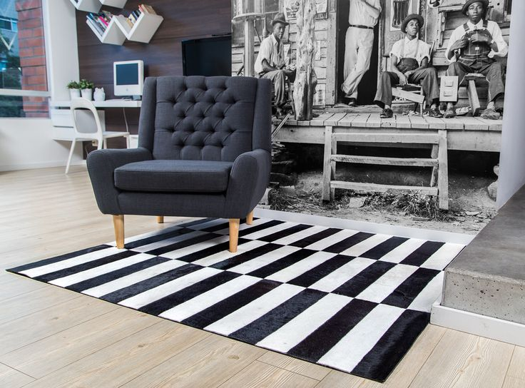 Tapete Holsty - Rug Holsty. Patchwork leather rug, a great complement. Tapetes en Cuero