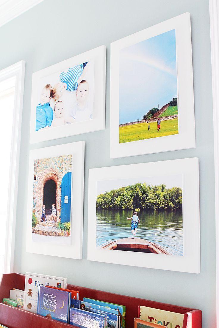 diy wood mounted photographs