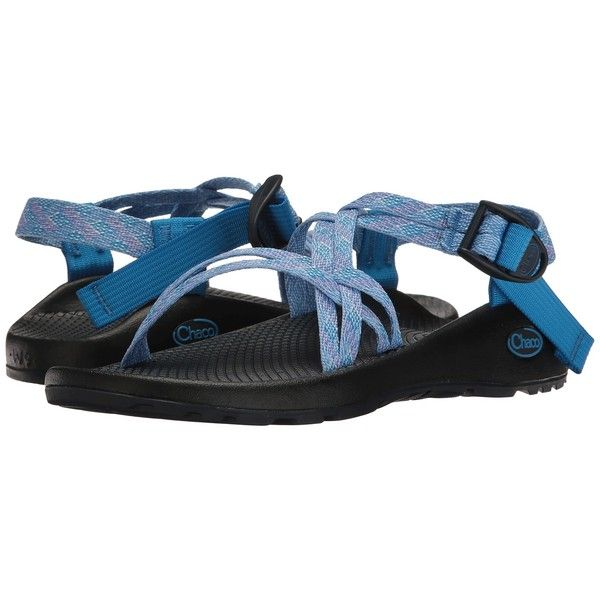 Chaco ZX/1 Classic (Braid Blue) Women's Sandals ($105) ❤ liked on Polyvore featuring shoes, sandals, platform shoes, wrap sandals, chaco shoes, arch support shoes and buckle sandals