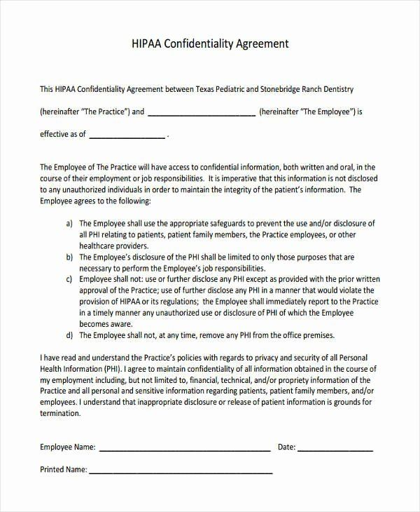 Employee Confidentiality Agreement Template Awesome 19 Free Confidentiality Agreement Forms Free Docume Rental Agreement Templates Statement Template Agreement