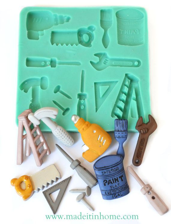 Silicone Mould building tools DIY food mold sugarcraft fondant fimo clay soap