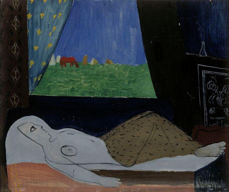 """lawrenceleemagnuson: """"Otto Mäkilä (Finland 1904-1955) Omega I (1945) oil on plywood 46 x 55 cm """""""