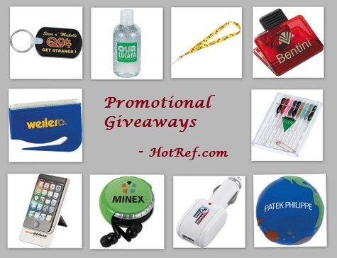 Promotional Giveaway Gifts Ideas for Conference and Conventions from HotRef.com