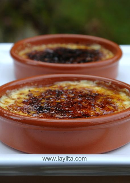 Crema Catalana by laylita: Similar to crème brulee, but flavored with citrus peel, cooked on the stove, instead of in the oven and with the sugar caramelized with a small round hot iron. #Crema_Catalana #laylita