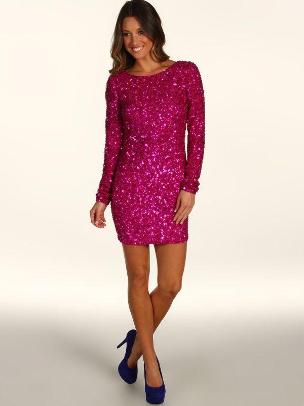 Mini Length Long Sleeve Formal Dress
