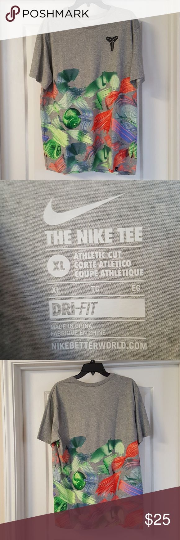 Nike dri fit Kobe Bryant t shirt EUC no snags or holes or stains  Athletic fit Nike Shirts Tees - Short Sleeve