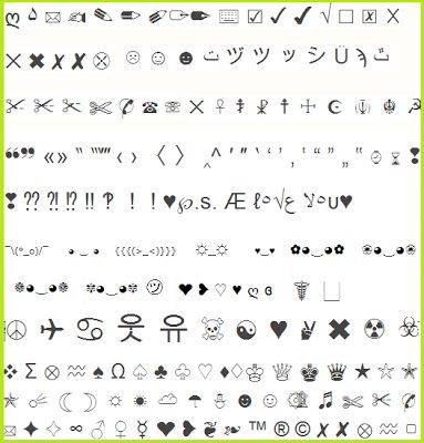 copy and paste letters for facebook 1000 images about symbols on emoticon list 15823