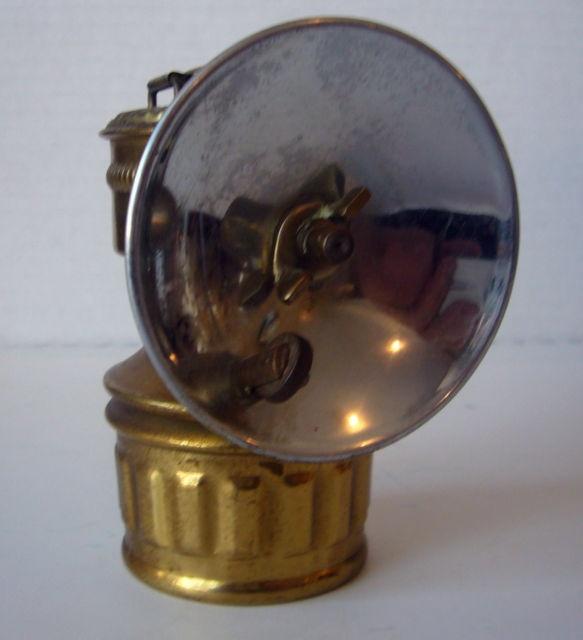 Vintage 1925 Shanklin Carbide Helmet Mining Lamp Great