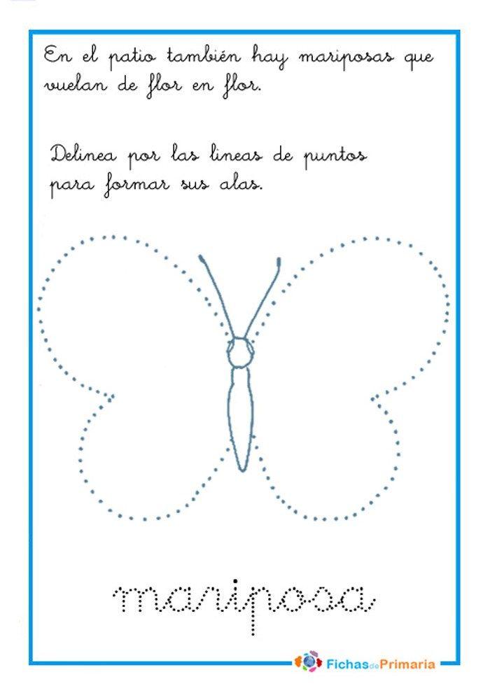 grafomotricidad mariposa | Grafomotricidad | Actividades ...