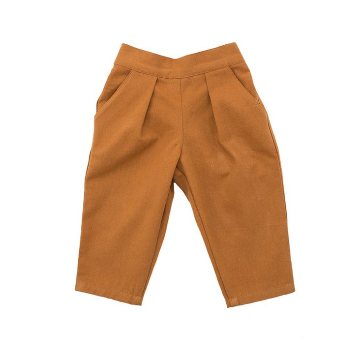pleated trousers / pumpkin twill – willaby