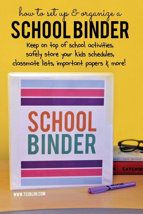 Learn how to create and organize a school binder with Avery. Keep all of your kids school schedules, important school papers, contact info and more!