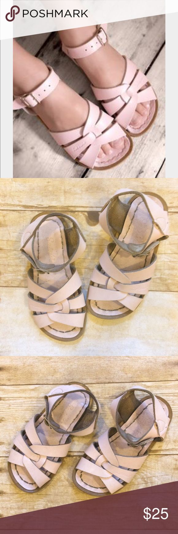 SALTWATER Light Pink Sandals Super comfy and stylish pair of sandals for Play, going into the water, and dress up! In a used condition. Salt Water Sandals by Hoy Shoes Sandals & Flip Flops