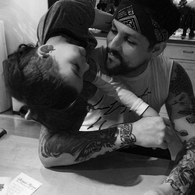 """Pin for Later: Proof That Nicole Richie and Joel Madden Have the Cutest Family  """"Sons."""""""