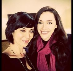 Catherine Bell & Sarah Powers of #HallmarkChannel Good Witch. #goodies