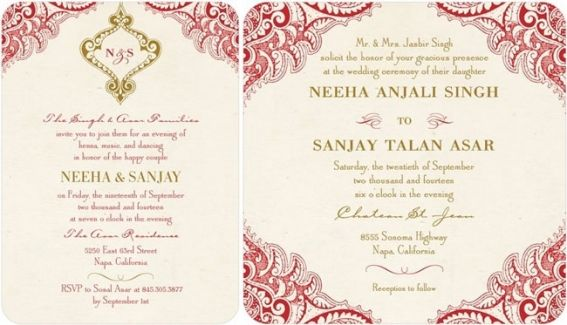 Indian Wedding Invitation Wording For Friends Card: Top Indian Wedding Invitation Cards