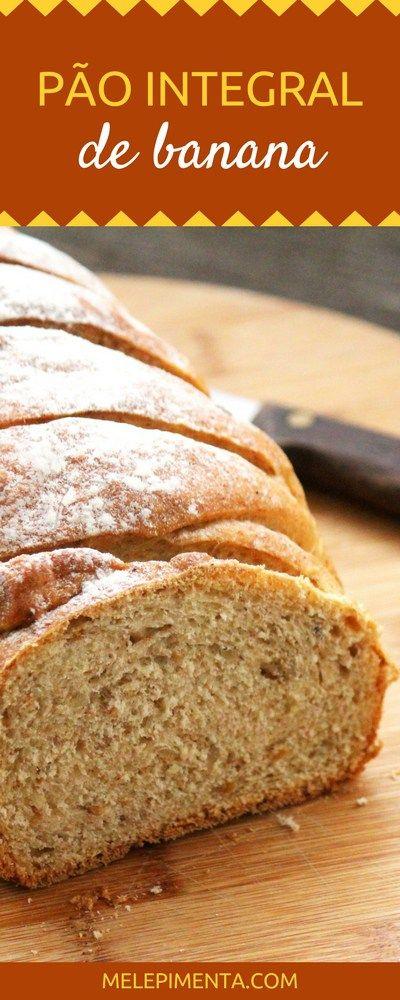 Confira a receita desse pão integral de banana que é saudável,nutritivo, rico em fibras, muito aromático e simplesmente delicioso. Sem lactose!