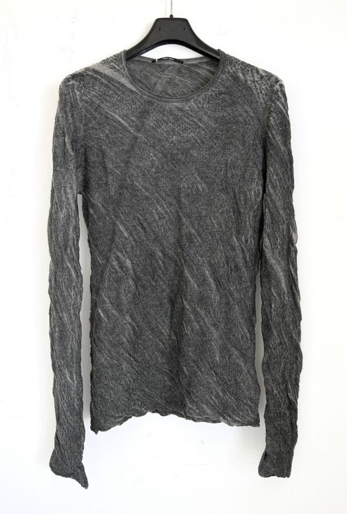 BNWT LUMEN ET UMBRA RESIN PRESSED WRINKLED SANDSTONE SWEATER 48IT(M),659$,DRK #LUMENETUMBRA #Sweatshirt