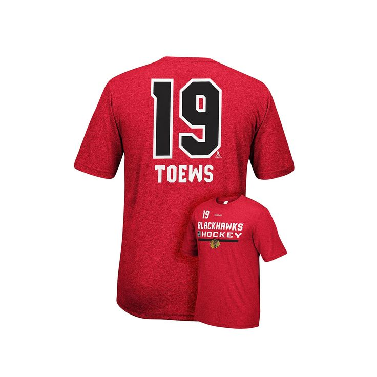 Men's Reebok Chicago Blackhawks Jonathan Towes Player Name and Number Tee, Size: XXL, Red