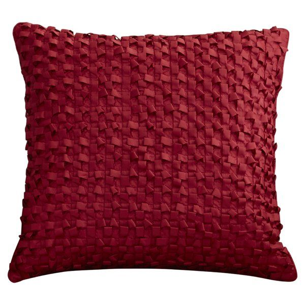 Brimming with distinctive style, this handmade Synthetic Throw Pillow is a must-have addition to any decor collection. Use it to complement your little one's traditional bed room ensemble or add it to their reading nook for a refined touch. Its grid details add an extra layer of texture to your decor while its solid color blends effortlessly with any hues. Display it on the top of the toy chest for a charming accent then pair it with a geometric-pattern rug for a dynamic display. With its...