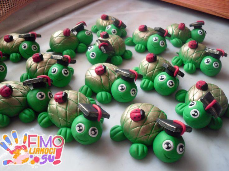 tartarughe laureate in fimo