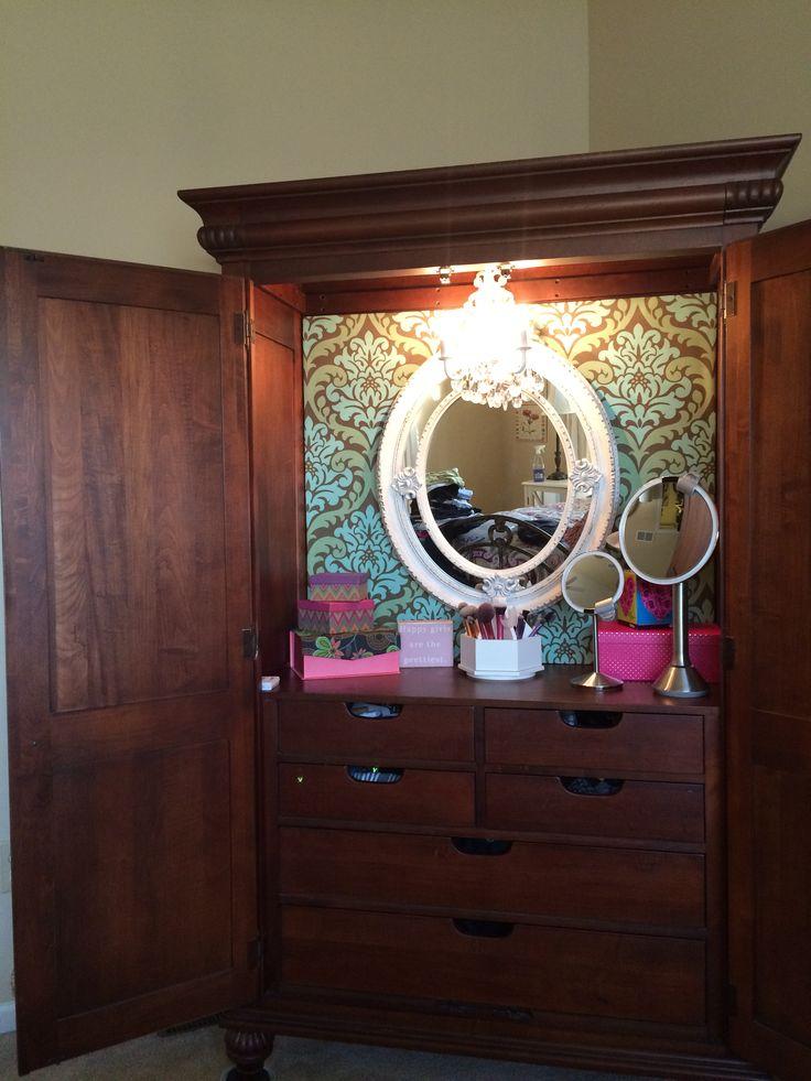 die besten 25 tv armoire ideen auf pinterest armoire. Black Bedroom Furniture Sets. Home Design Ideas