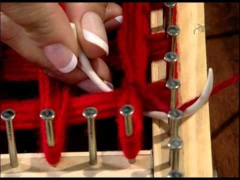 loom board pom pom blanket part 1 - YouTube