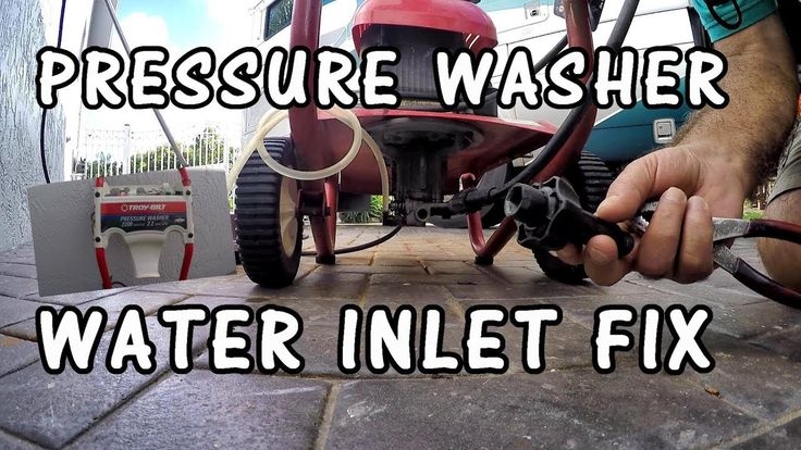 Pressure washer water inlet repair troybilt power washer