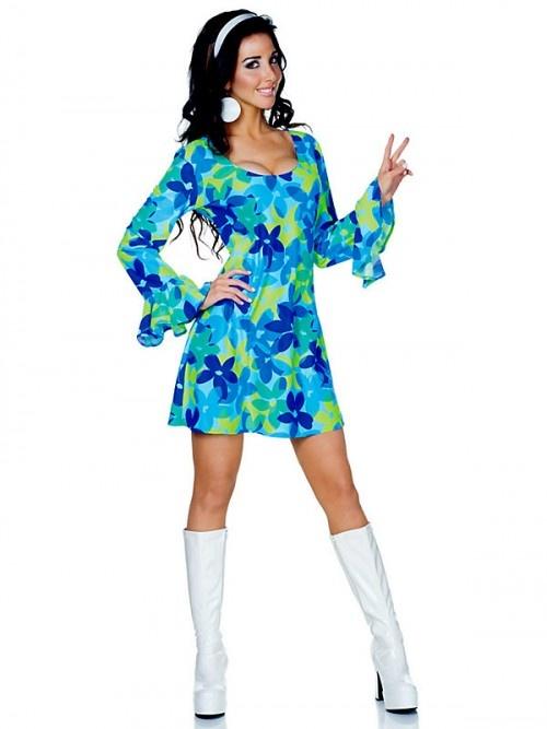 Default Brand Flower Child Wild Hippie Costume | Clothing