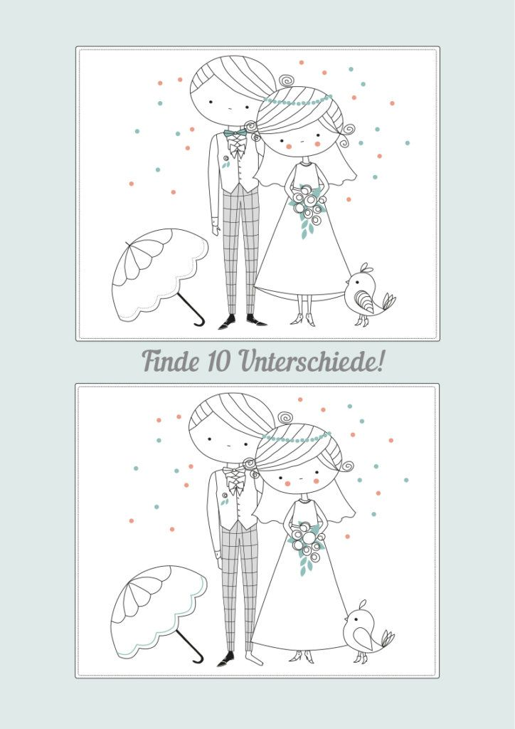 Wedding Coloring Book Printable – Free Download
