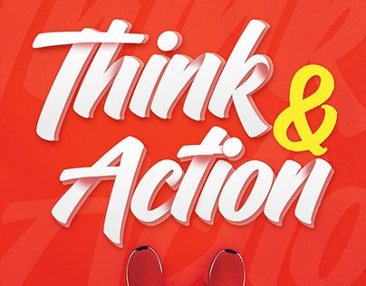 """Check out new work on my @Behance portfolio: """"Think & Action font"""" http://be.net/gallery/62571821/Think-Action-font"""