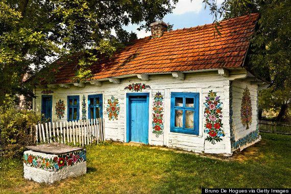 Zalipie -  the painted village in Poland
