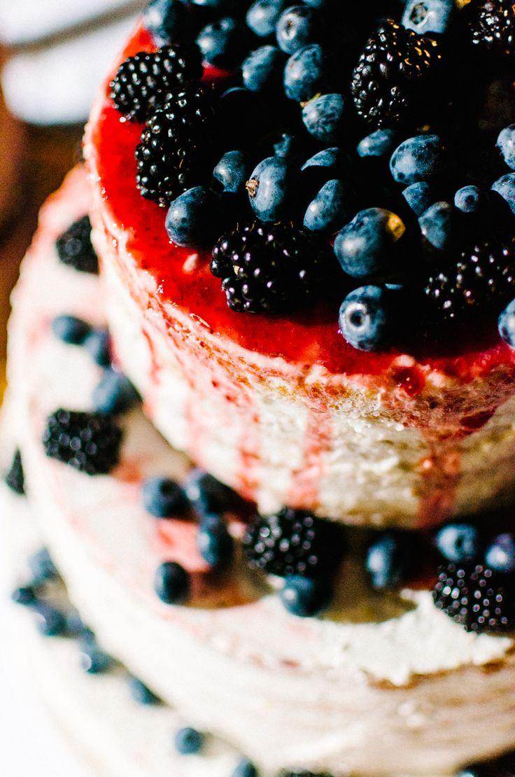berries, berries, cake