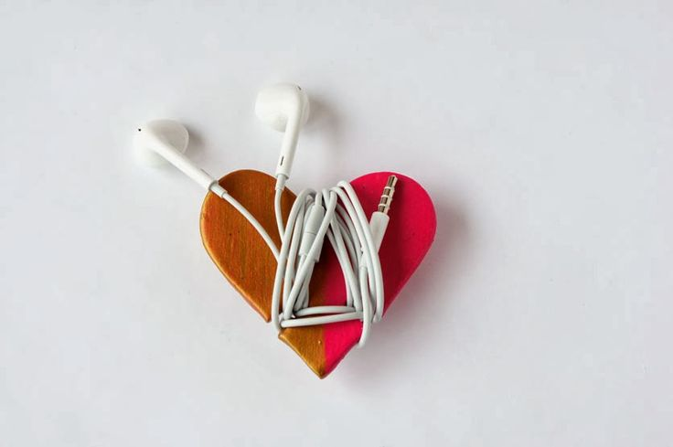 Envoltura de corazón para auriculares