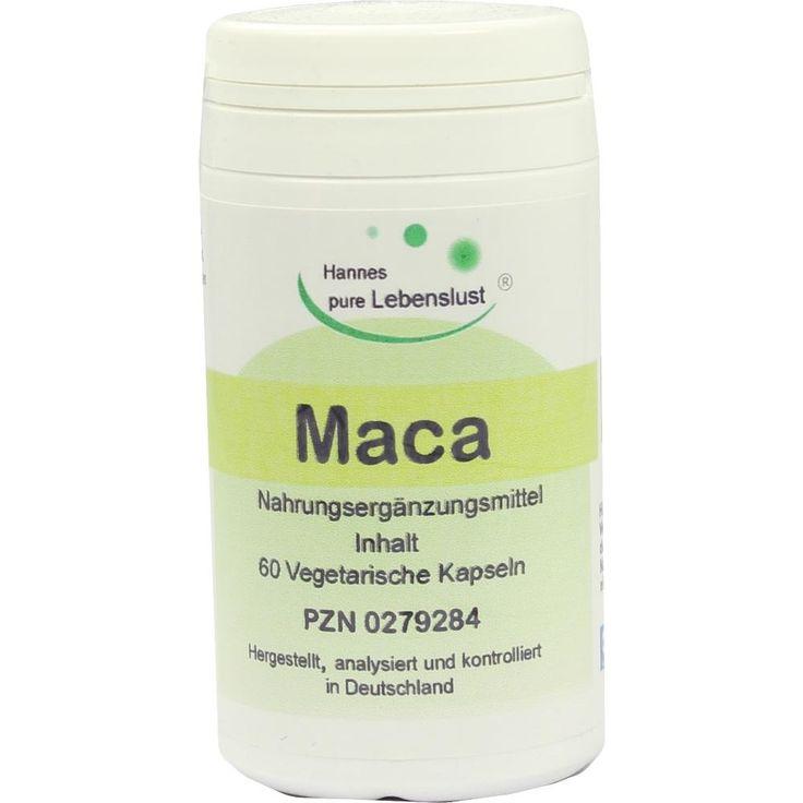 MACA Kapseln:   Packungsinhalt: 60 St Kapseln PZN: 00279284 Hersteller: G & M Naturwaren Import GmbH & Co. KG Preis: 8,13 EUR inkl. 7 %…