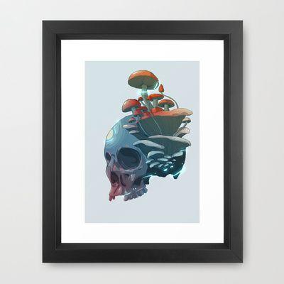 AMANITA Framed Art Print by Defeat Studio - $40.00