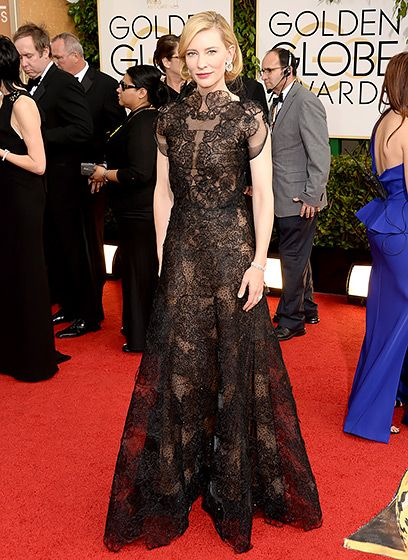 Cate Blanchett shuts it down in Armani Privé at the 2014 Golden Globes