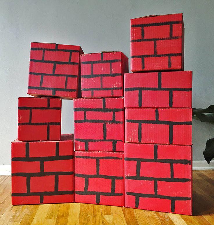 Superhero Brick Wall