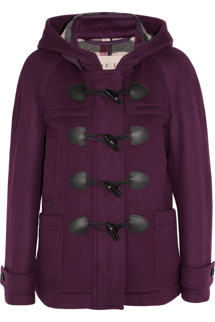 Burberry Brit|Brushed-wool coat |Love the color of this toggle coat