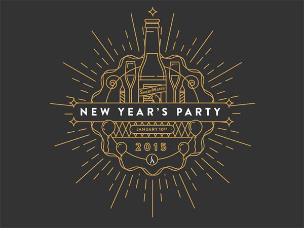 NEW YEAR'S INVITE BY DANIEL HAIRE