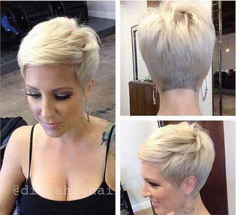 Stylish Blonde Pixie Hair