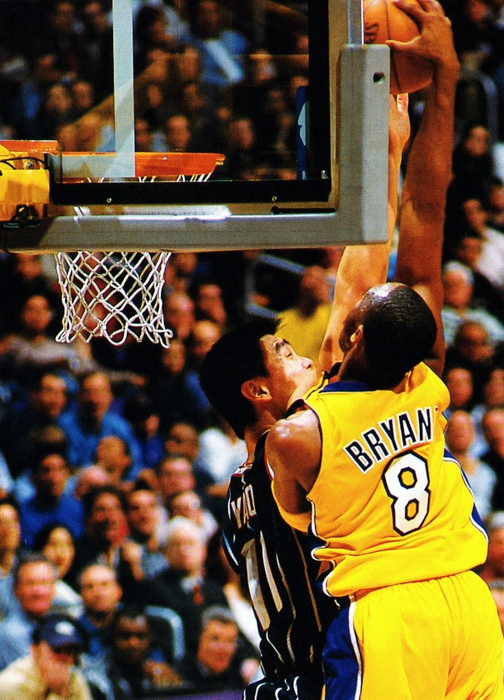 Kobe Bryant dunk on Yao Ming. I remember watching this. One of the best dunks ever.