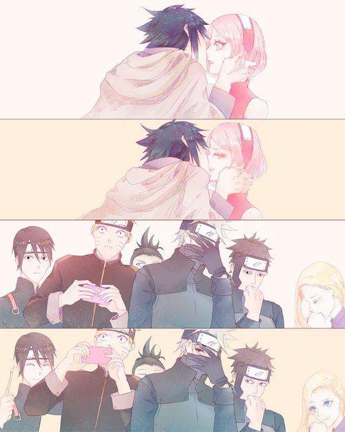 Aaaaaaaaaaaa nunca veremos a Sasuke besar a Sakura