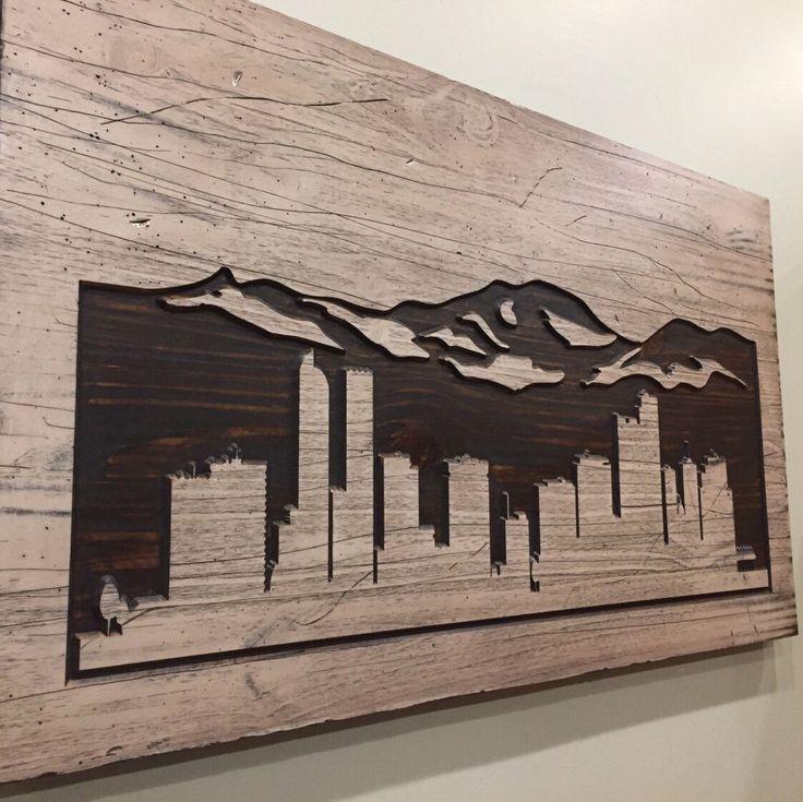 Denver Skyline...we can make yours too! Shop HowdyOwl-Click Click!