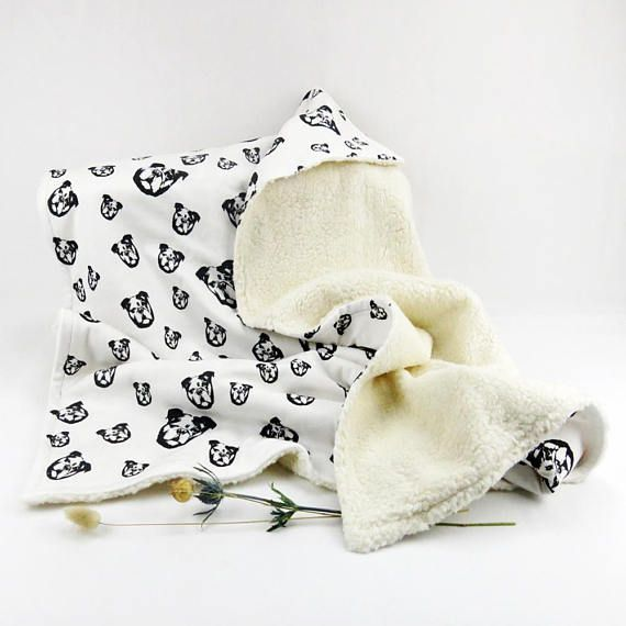 Organic Cotton And Organic Plush Warm Baby Blanket With