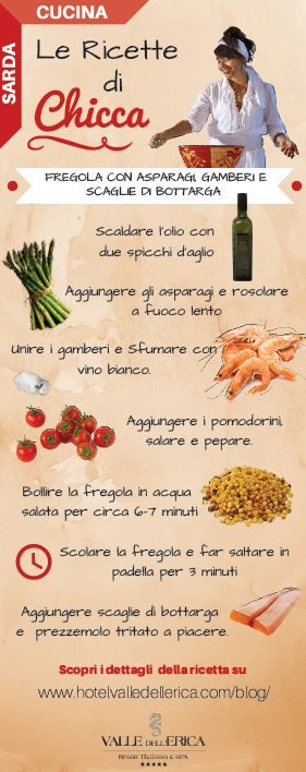 Le Ricette di Chicca: ricetta della #fregola #sarda con asparagi, gamberi e bottarga. Primi piatti tradizionali della cucina della #Sardegna